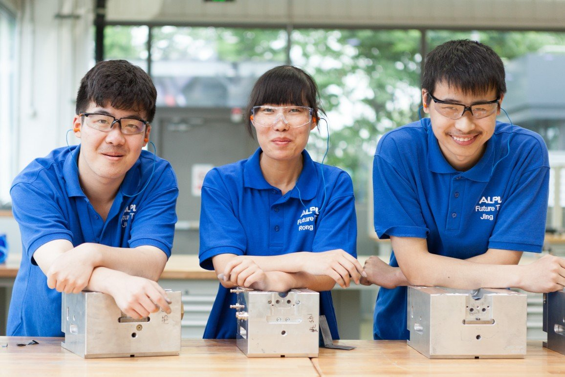 Three apprentices from China.